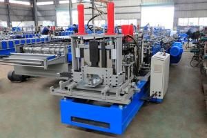 China Highly Efficient Steel Profile Stud And Track Roll Forming Machine 18 Station on sale