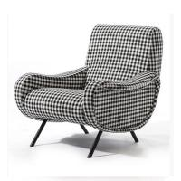 Classic Retro Modern Upholstered Sofa Living Room Fabric Armchair HY-C357