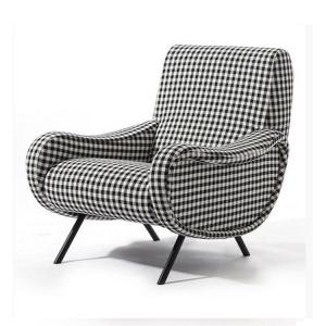 China Classic Retro Modern Upholstered Sofa Living Room Fabric Armchair HY-C357 on sale