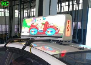 China HD Video IP65 waterproof car roof led sign display , led sign double sided on sale