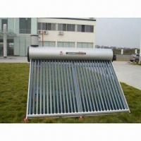 copper coiled solar water heating system