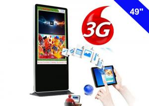 China Kiosk 3g Network Digital Signage , Advertising Free Standing Digital Signage 3g on sale