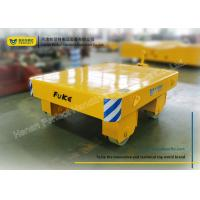 Yellow Die Transfer Cart Towing Trailer Platform Table For Molds Plant