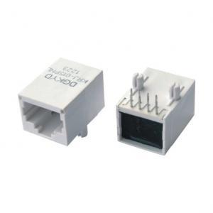 China solo conector sin blindaje BAJO de Ethernet RJ45 del puerto 10/100 con el transformador, gris on sale