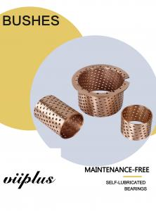 China Distributed Lubrication Oil Holes Wrapped Bronze Bearings CuSn8 CW453K 092 Easy Assembly on sale