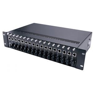 China Managed 16 Slots Rack mount Chassis fiber Ethernet Media Converter on sale