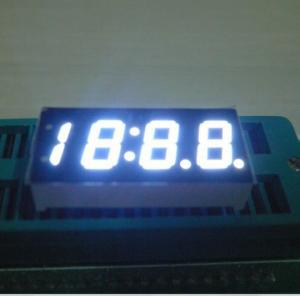 China White Bright 4 Digits Numeric 7 Segment LED Displays For Car Clock Indicator on sale