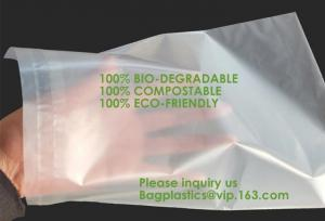 China Compostable biodegradable packaging mailing bag with handle,Biodegradable compostable plastic courier shipping envelope on sale