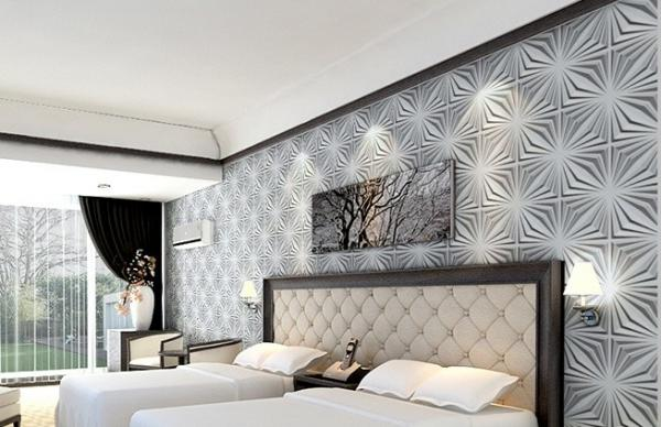 Fashion modern wood 3d living room wallpaper for home wall wall art 3d wall panels images