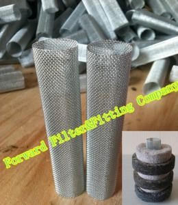 China Expanded Wire Mesh Perforated Metal Tube Inner Filter Part 0.2mm Thick on sale