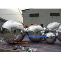 Popular Shining Inflation Silver Hanging Mirrored Balloon Lights Decoration For Dior Show