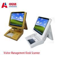 Muti-color Portable Desktop Visitor Management Kiosk Touch Screen Bank Payment Kiosks ZA-VM202