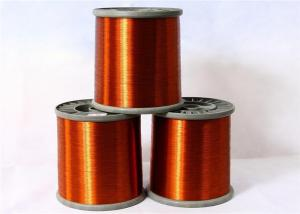 China 0.13mm FIW Wire Enameled Round Copper Wire Nature Color Roll Packing on sale