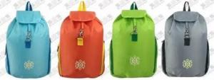 China Promotional Candy Color Foldable Backpacks Packable For Travel / Day Trips on sale