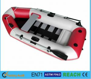 China White And Red Inflatable Float Boat PVC Drift Boat Inflatable Fishing Boat on sale