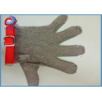 304L Stainless Steel Chain Safety Metal Gloves 5 Fingers  / Mesh Cutting Glove