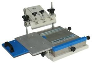 China Manual Flatbed Screen Printer with Shuttle Working Table on sale