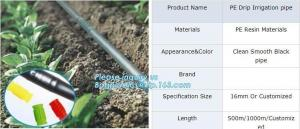 China Non toxic odorless PE drip irrigation pipes for drip watering system,PE drip irrigation pipe with low price,drip irrigat on sale