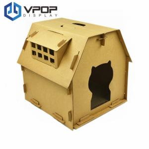 China Japanese Style Cardboard Box Cat House Outside 450mm * 350mm * 450mm on sale