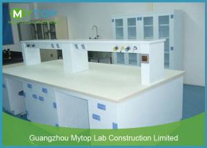 China PP Material Science Lab Desks Fireproof / Chemistry Lab Furniture Stain Resistant on sale