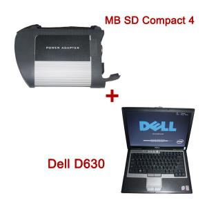 China Handheld Auto Diagnostic Tools , MB SD Connect Compact 4 Star Diagnosis 2014.03V Plus Dell D630 Laptop on sale