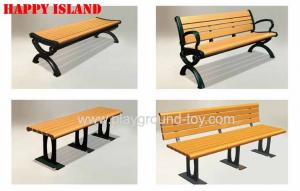 China Wooden Garden Benches , Garden Park Bench With 150cm Or 120cm Length on sale