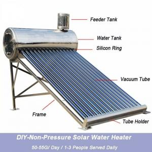 China solar hot water geysers with evacuated tube collectors on sale