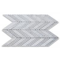 Chevron Stone Mosaic Tile Kitchen Wall Carrara White Polished Marble Mosaic Tile