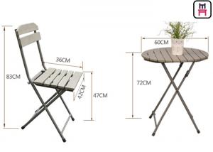 ... Quality Plastic Wood Folding Patio Dining Table And Chairs  All Weather Garden for sale ...  sc 1 st  Wood Restaurant Chairs - Everychina & Plastic Wood Folding Patio Dining Table And Chairs  All Weather ...