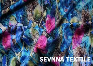 Quality Sustainable Eco Friendly Swimwear Fabric , Geometric Patterns Swimwear Knit for sale