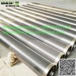 China supplier Johnson screen pipe water well screen continuous slot wire wrapped stainless steel screen
