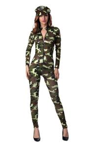 China Nightclub new camouflage party wear women's long American camouflage army clothing field training field game clothing on sale