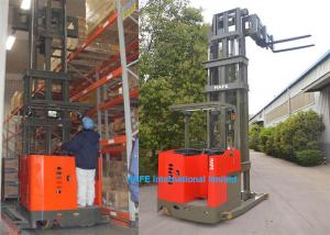 China 6m Lifting Height Narrow Aisle Forklift Truck With Fork HD Display Non Blind Area on sale