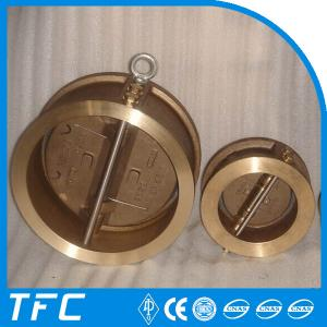 China aluminum bronze dual plate wafer check valve on sale