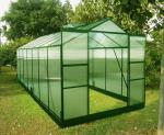 Double Doors Sturdy Aluminum Framing 4mm UV Twin-wall Small Plastic Greenhouses 8' X 14'