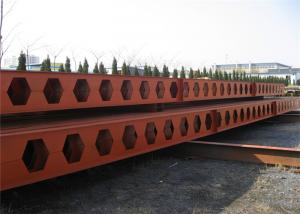 China Portal Frame H Structural Steel Beams Castellated Beam For Warehouse / Workshop on sale