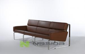 China Polishing Contemporary Durable Living Room Leather Sofa for Home / Office Furniture on sale