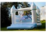 0.55mm PVC Tarpaulins Inflatable White Bounce House Castle For Wedding