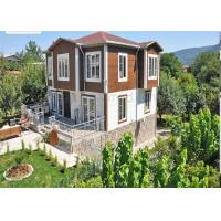 China Light Steel Prefabricated Modern 2 Story House With Fiber Cement Board Floor on sale