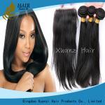 Les prolongements noirs de cheveux de Remy, les cheveux mous de Vierge empaquette les cheveux 100% de Vierge