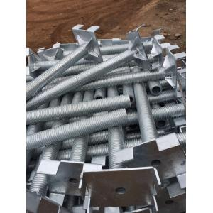 China Q235 Q345 Galvanized Hollow Solid scaffolding formwork jack base for building on sale