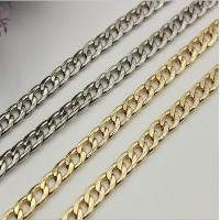 Widespread sale good quality 90 mm length iron material flat shape gold metal chain for lanyard