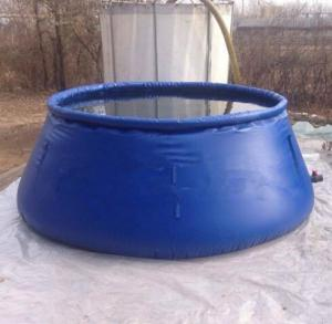 China Industrial Fabric Tarpaulin Water Tank Soft PVC Foldable Rain Water Container on sale