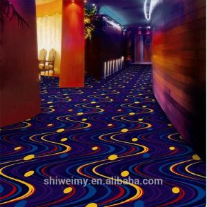 China Shanghai starry sky pattern striped wilton carpet for luxury hotel on sale