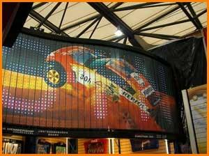 China Outdoor PH16mm 2R1G1B Full Color Electronic Billboards Curved Led Video Display Screen on sale