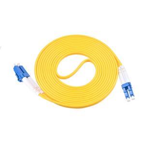 China SM 3.0mm Ceramic Ferrule Optic Fiber Patch Cable With DLC-DLC Connectors on sale