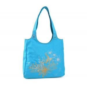 China Custom recyle canvas shopping bag Ladies Tote Shoulder Bag Handbags on sale