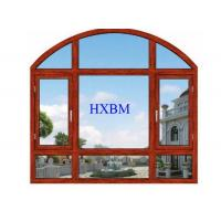 Modern Design Aluminum Clad Windows , Wood Look Aluminium Windows For Residence