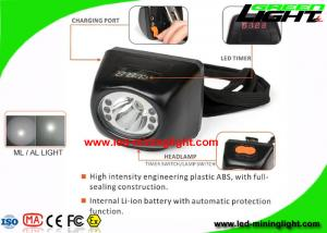 China 4.5Ah Digital Mining Cap Light Head Lamp IP67 With 18 Hours Lighting Working Time on sale
