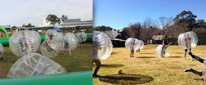 China Commercial Red Body Inflatable Zorb Ball / Bubble Soccer Ball Transparent Color on sale